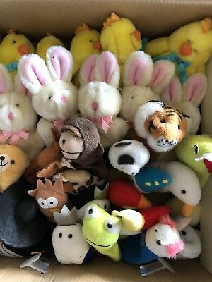 Finger Puppets X 30 Bulk Buy - Animals, Chickens, Rabbits, Kings, Queen Kinghts