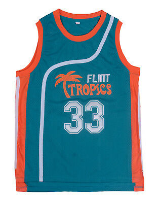 Flint Tropics movie version 33 Jackie MOON Jersey Mario moons Basketball Jerseys