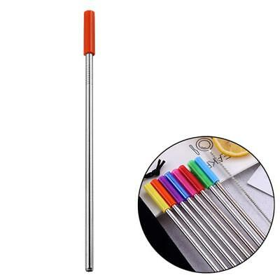 Silicone Sleeve Long Stainless Steel Metal Drinking Straws For 20 Oz/30 Oz Cups