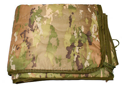 NEW MULTICAM OCP Wet Weather Poncho Liner w ZIPPER Military Style Woobie Blanket