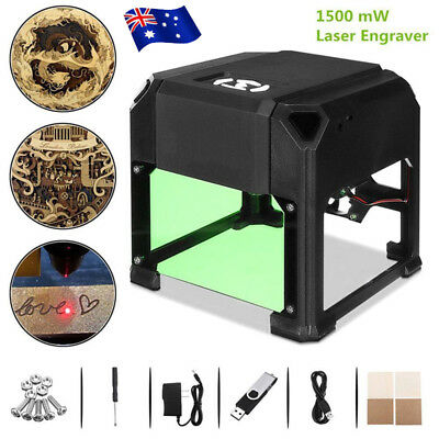 AU 1500mW USB Laser Engraver DIY Mark Printer Cutter Carver Engraving Machine