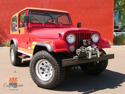 1983 Jeep CJ7  1983 Jeep CJ7 4.2L 5-SPD, Fuel Injected, Custom Sound, Hardtop, Warn Winch