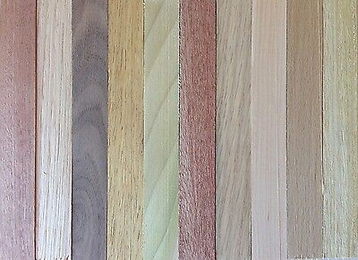 10 x Chunky Planed Pen Turning Blanks Mixed Species Woodturning 150x20x20mm