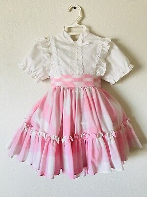 Vintage Mini World Pink Plaid Toddler Dress
