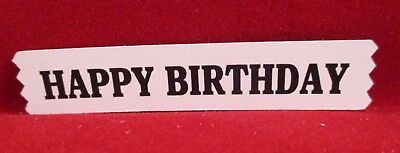 20  Printed Happy Birthday Label Die Cuts...........style2...........cardmaking