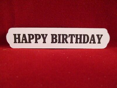 20  Printed Happy Birthday Label Die Cuts...........style1......cardmaking