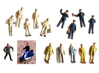 Plastic Figures H0 scale 1:87, painted/unpainted, unboxed, sold in groups
