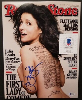 JULIA LOUIS DREYFUS Signed SEINFELD, ROLLING STONE Cover 11x14 Photo.BECKETT
