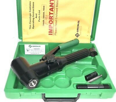 Greenlee 7904SB 7904E Quick Draw 90 Hydraulic Punch Driver & Kit w/ Metric Case