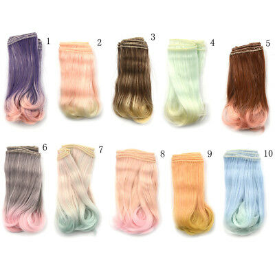 15cm diy curly doll wigs High Temperature Wire doll hair for 1/3 1/4 1/6 BJD EN