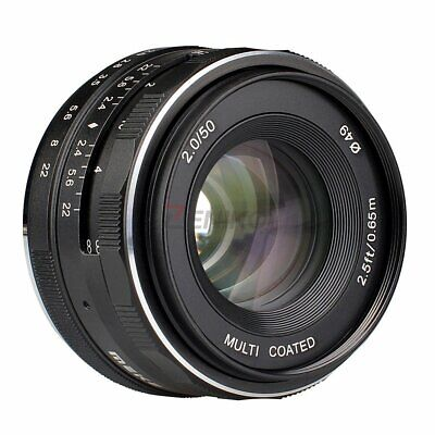 Meike MK-50mm F2. 0 Focus Fixed Lens For Canon EOS M1 M2 M3 Mirrorless Camera