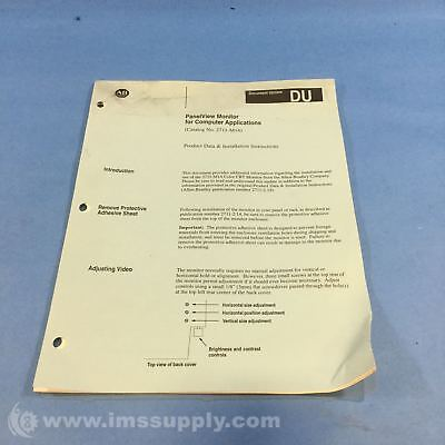 Allen Bradley 2711-M14 Manual Product Data And Installation  Usip
