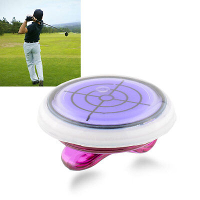Golf Slope Putting Helper Level Reading Ball marker Hat Clip Colorful
