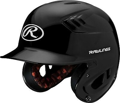 (Senior, Black) - Rawlings R16 Series Metalllic Baseball Batting Helmet