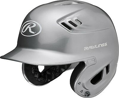 (Senior, Silver) - Rawlings R16 Series Metalllic Baseball Batting Helmet