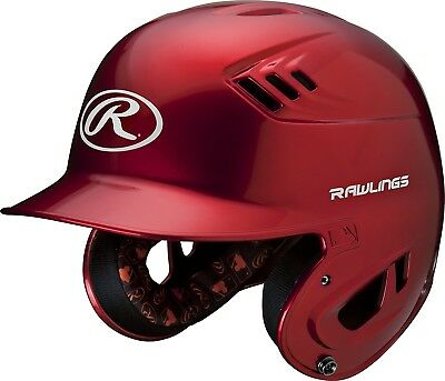 (Junior, Scarlet) - Rawlings R16 Series Metalllic Baseball Batting Helmet