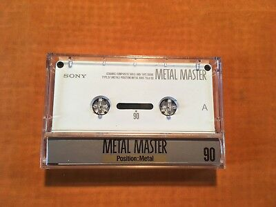 1 x SONY METAL MASTER 90 Cassette,IEC IV/Metal Pos.,sehr guter Zustand,rare,1990