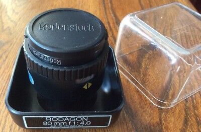 Rodenstock Rodagon 1:4 f=80 mm Enlarging Zoom Lens Cap Box Nice Clean Condition