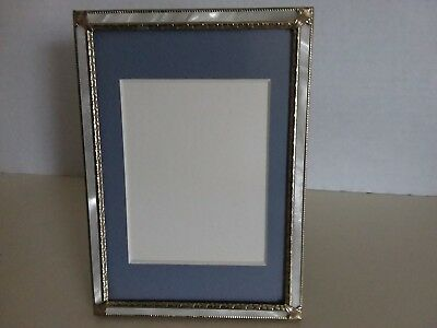 Vintage Faux Mother of Pearl Ornate Antique Style Wedding  Picture Frame 4x6