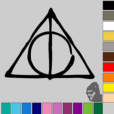 3x Harry Potter Deathly Hallows Symbol 2 Gloss Or Matte Vinyl