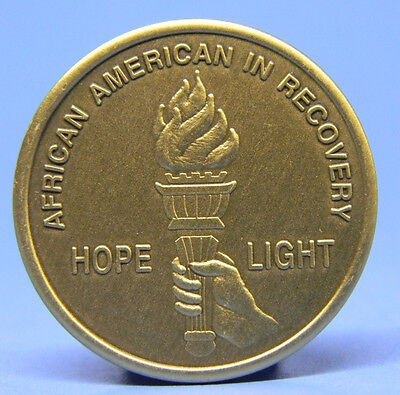 Bronze Chip - Medallion - African  American In Recovery - Sobriety