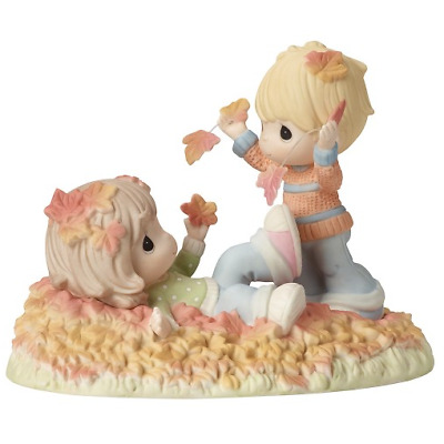 """Precious Moments """"Fall-ing In Love With You"""" Porcelain Figurine Item #169014"""