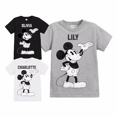 Official Childrens Disney Mickey Mouse Retro Personalised T Shirt