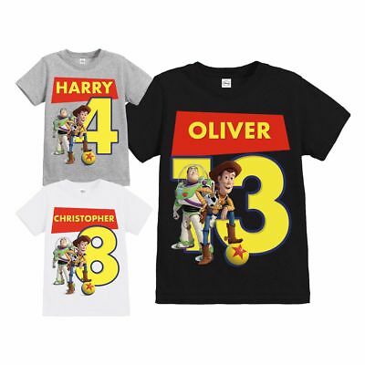 Official Toy Story Woody & Buzz Ball Children's Personalised Birthday T-Shirt