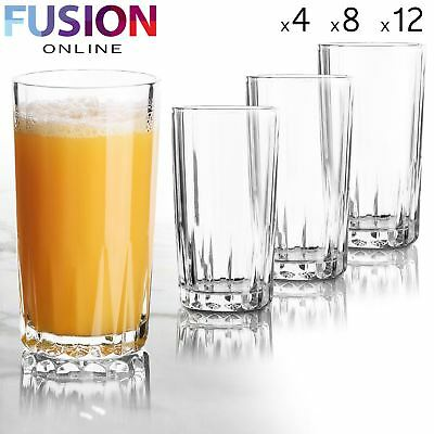 Drinking Glasses Tumblers Highball Style Glassware Drink Water Juice Party 280Ml