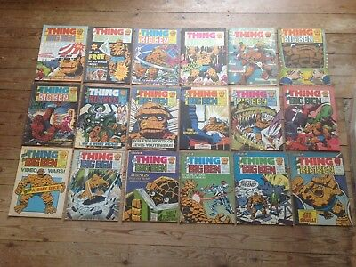 24 X The Thing Is Big Ben Comics 1-18 + Spider-Man + Summer Special Marvel Uk