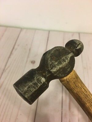 Vintage Machinist Blacksmith 8 oz Ball Peen Hammer Hickory Handle