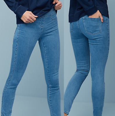 WOMENS HIGH WAISTED RIPPED JEANS STRETCHY SKINNY JEGGINGS LADIES DENIM 6 to 16