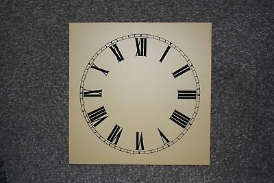 "Vintage Clock Replacement Parts/Spares Dial/Face Cream7"" (180mm) Roman Numerals"