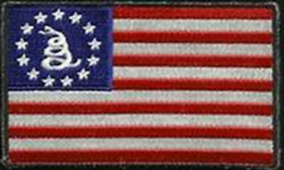 "USA Flag Gadsden Dont Tread On Me 3"" Patch Embroidered FAST USA SHIPPING"