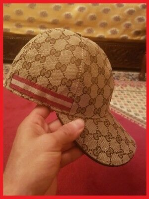 d15eb43148f Mens Gucci GG Canvas Beige Baseball Cap Hat Limited Edition FREE   FAST  SHIPPING