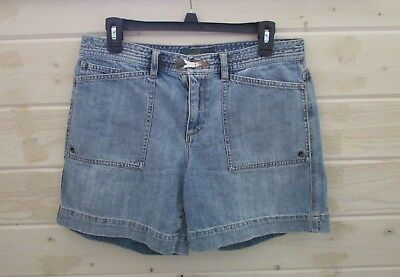 Ralph Lauren Jeans Co. Women 8 High Waisted Mom Jeans Shorts Nautical Light Blue