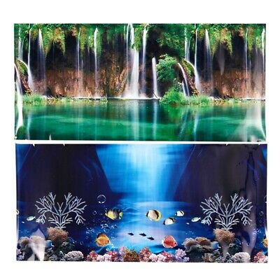 Blue Fresh Sea Background Aquarium Ocean Landscape Poster Fish Tank Backgro V1K1
