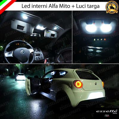 Kit Led Interni Alfa Romeo Mito My2017 Conversione Completa Canbus + Led Targa