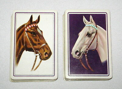 Vintage Double Deck Horses Playing Cards