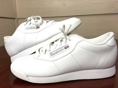 962a4804ff660 Reebok Classic Womens Athletic Princess White Shoes Sneakers US 8 EUR 38.5  Nice!