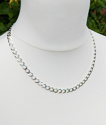 Men's Sterling Silver 7.5mm Curb Chain Necklace 20″ 22″ 24″