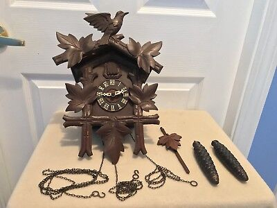 Antique Vintage Eduard Herr Sohne Germany Cuckoo Clock BEAUTY!