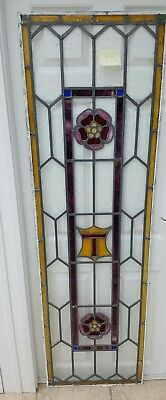 Antique stained glass panel. Original lead very old vintage.