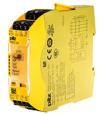Pilz 750134 PNOZ S4 Safety Relay. Supply 48-240V AC or DC. Contacts 3n/o 1 n/c.
