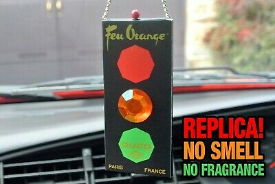 Feu Orange Traffic Light Replica Car Air Freshener - '80s, Classic, Retro, Ford