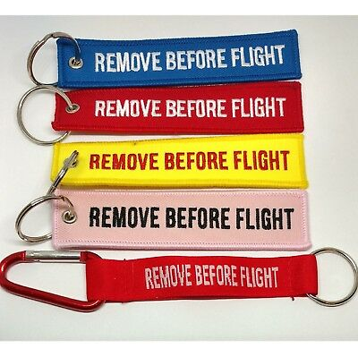 Remove Before Flight Keychain Keyring Tag Aviation Holiday Suitcase Travel Bag
