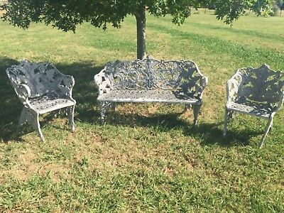 Astonishing Vintage Antique Victorian Twisted Wire Fan Back Garden Bench Pabps2019 Chair Design Images Pabps2019Com