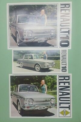 1966/1967 Renault 10 and full line brochure lot of 3
