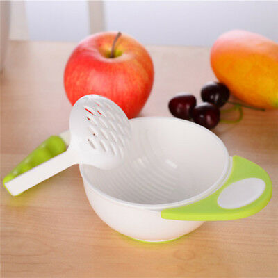New Manual Baby Kids Feeding Food Fruit Supplement Hand Grinding Bowl Rod Tool