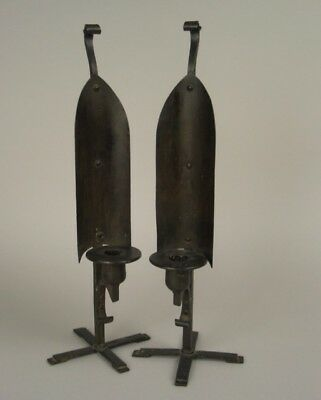 Pair of Arts and Crafts Bronze Candlesticks, Late 19th/Early 20th Century